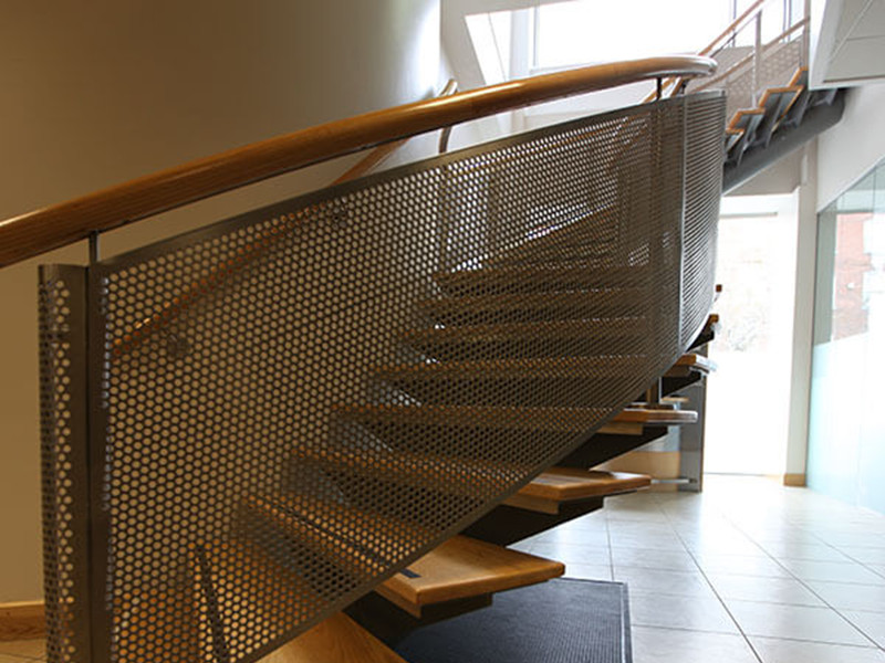Perforated Metal Sheet Stair Baffle